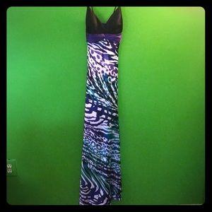 Cache long sleeveless prom dress